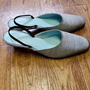 J. Crew slingback kitten heels.  Size 8 1/2